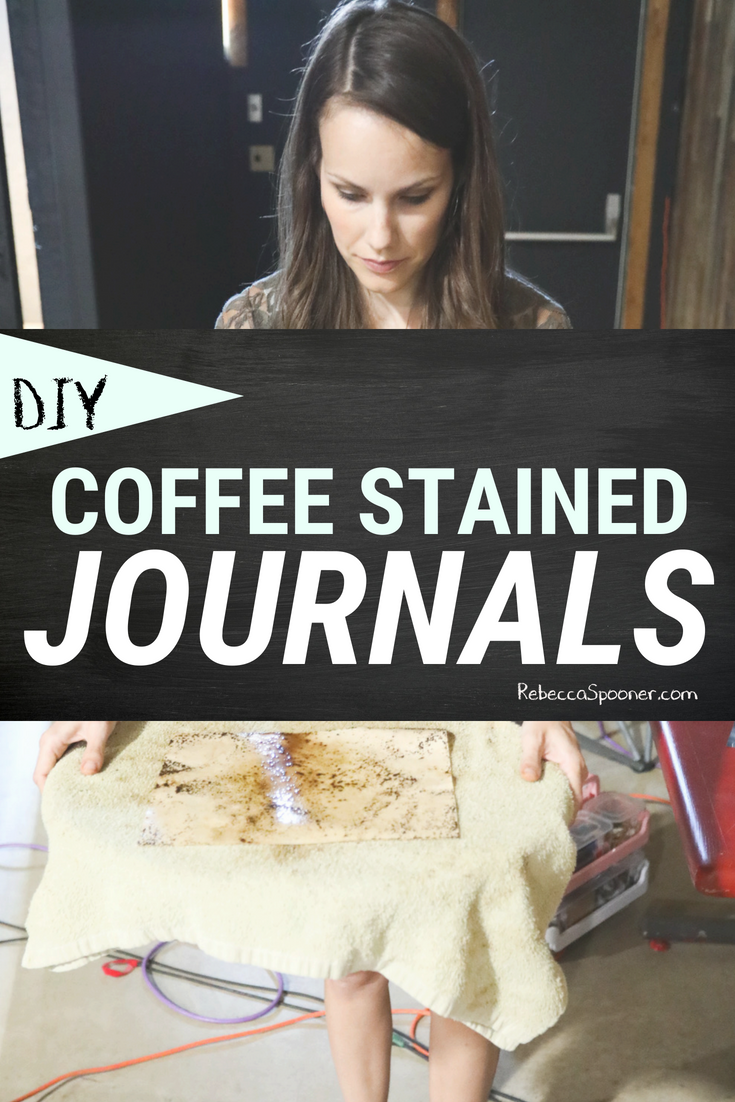 How to make your own coffee stained journal or how to make coffee stained travellers notebook insert or make your own coffee stained paper (whatever you want to call it). This project is easy and fun and this tutorial will walk you through what you need and all the steps to DIY coffee stained paper! #bulletjournaling #bulletjournal #coffeestained