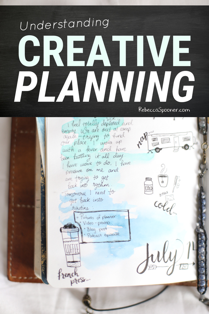 Have you ever tried creative planning? It is a method of planning that often involves doodles and art and watercolor or stickers and washi... anything that ads a creative element to the normal act of planning your day. Come take a peek inside my planner and learn more about why I love creative planning and the benefits. #planning #bulletjournaling #creativeplanning #creativejournaling