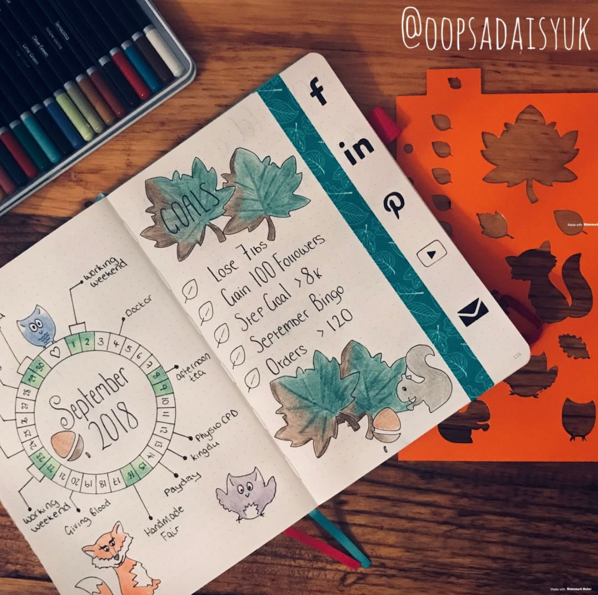 fall bullet journal inspiration
